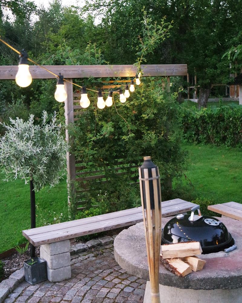 belysning i hagen
