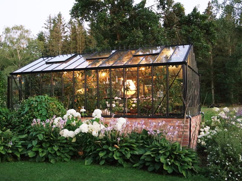 belysning i hagen drivhus