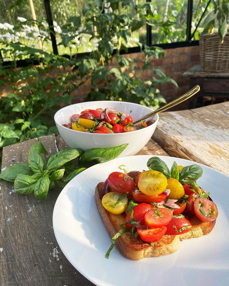 De første tomatene